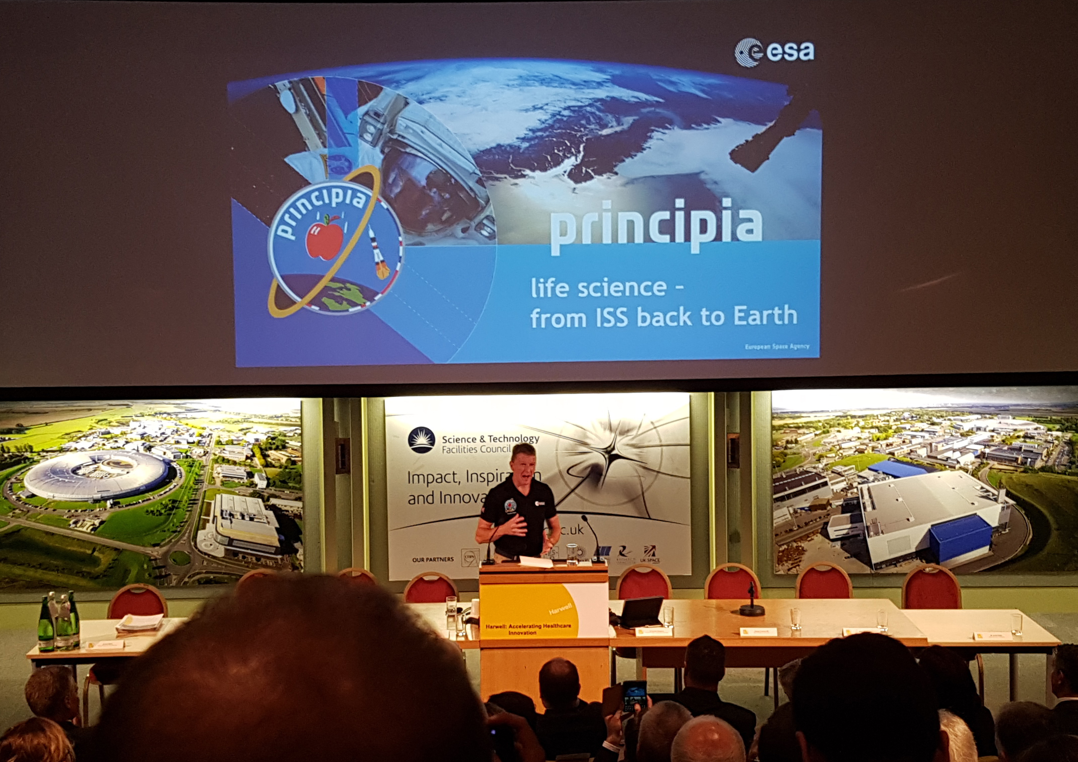 Tim Peake at Harwell Conference