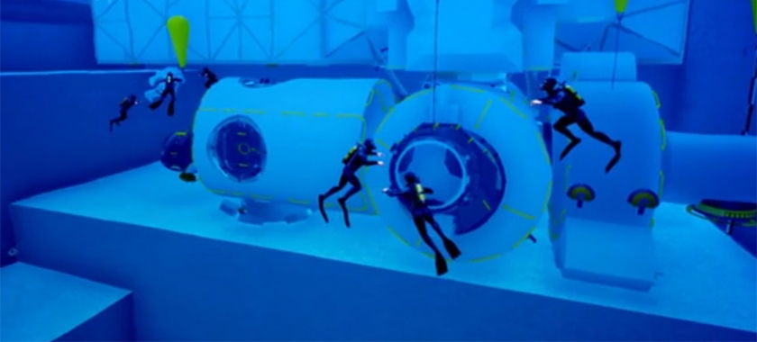 Science Museum Lates visitors dive Blue Abyss